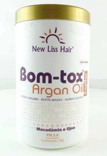 2 bo-tox capilar argan oil s/formol 1kg  new liss +shampoo1l