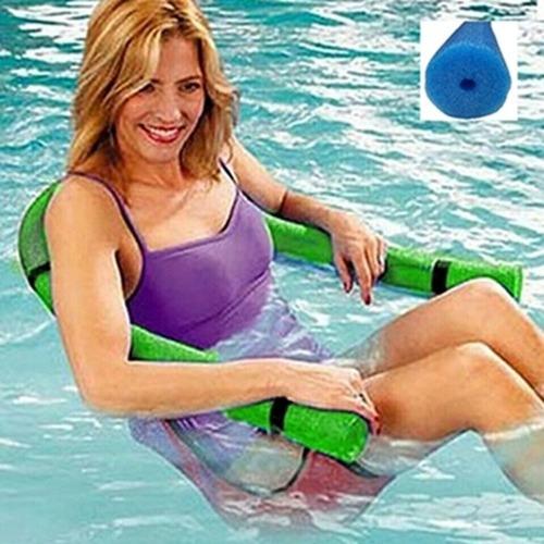 2 boia espaguete de piscina + 2 cadeira flutuante master pro
