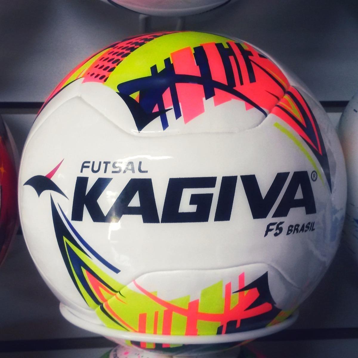 de6fc17450 2 Bolas Futsal Kagiva F5 Brasil Pró Oficial Liga Nacional - R  230 ...