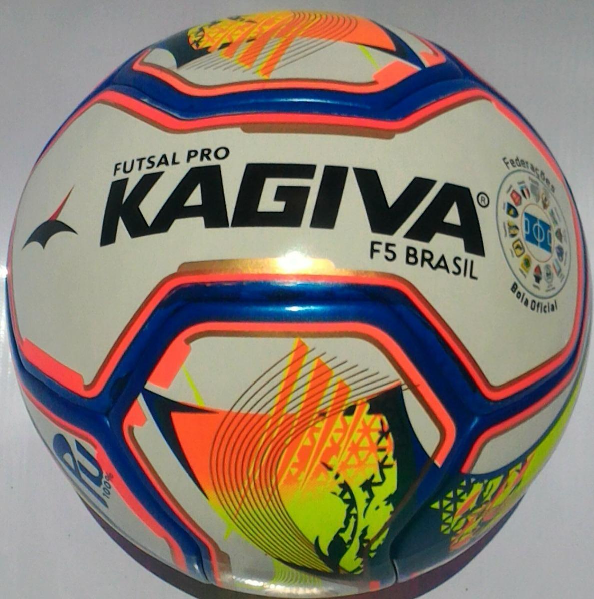 cefb5920d7f85 2 Bolas Futsal Kagiva F5 Brasil Pro Oficial Melhor Preço - R  235