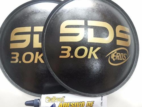 2 - bolha protetor p alto falante eros sds 3.0k 160mm +cola