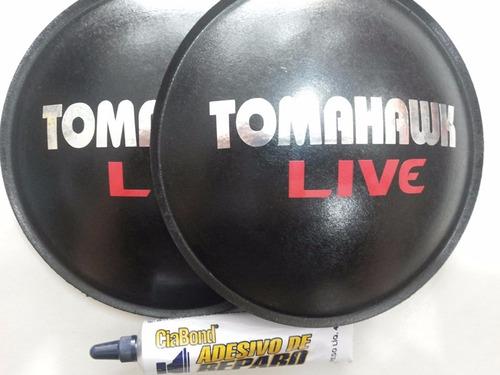 2- bolha protetor p alto falante tomahawk live 160mm + cola