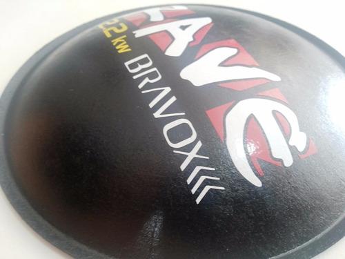 2- bolha protetor p/ falante bravox rave 2.2k 160mm +cola
