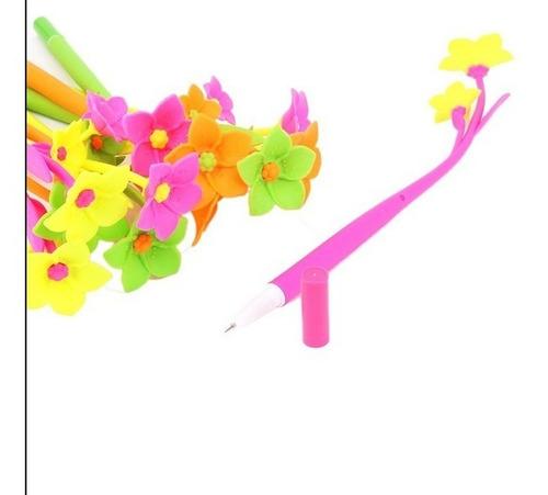 2 boligrafoa forma d/flor rosa daisy regalo cotillon fiesta