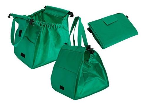 2 bolsa ecologica carrito super mercado reciclable soporte f