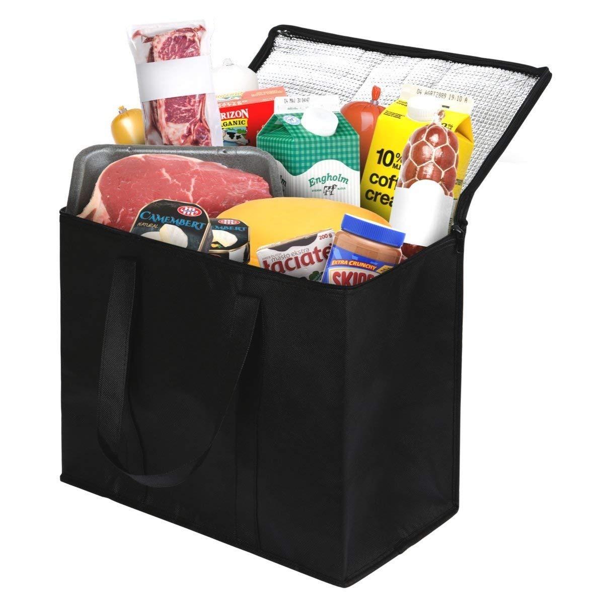 9810b5ecf 2 bolsas de supermercado reutilizables para frios y caliente. Cargando zoom.