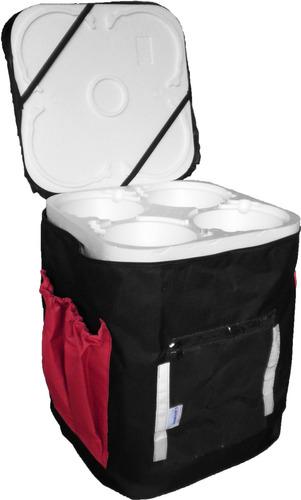 2 bolsas mochila p/ entrega de marmitex s/ módulos de isopor
