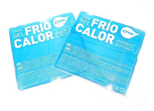 2 bolsas pack gel grande 24x25 cm frio calor golpes ptm