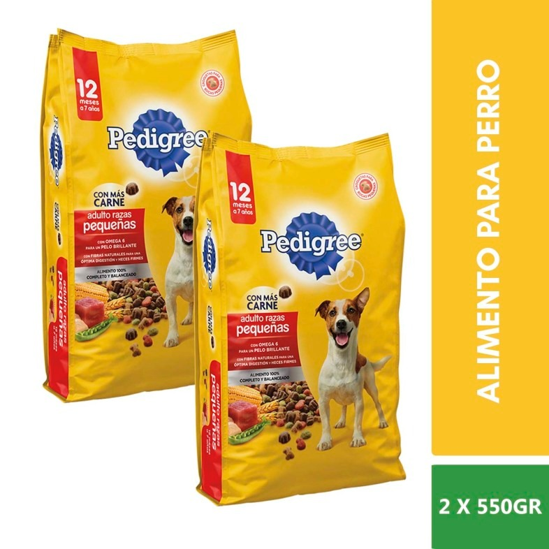 Omega carne Alimento Raza 6 Bolsas 2 550g Pedigree Pequeña BqPttz