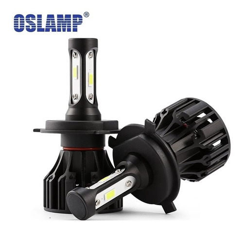 2 bombillos led h4 hi/low oslamp 16000 lumens+ cocuyos