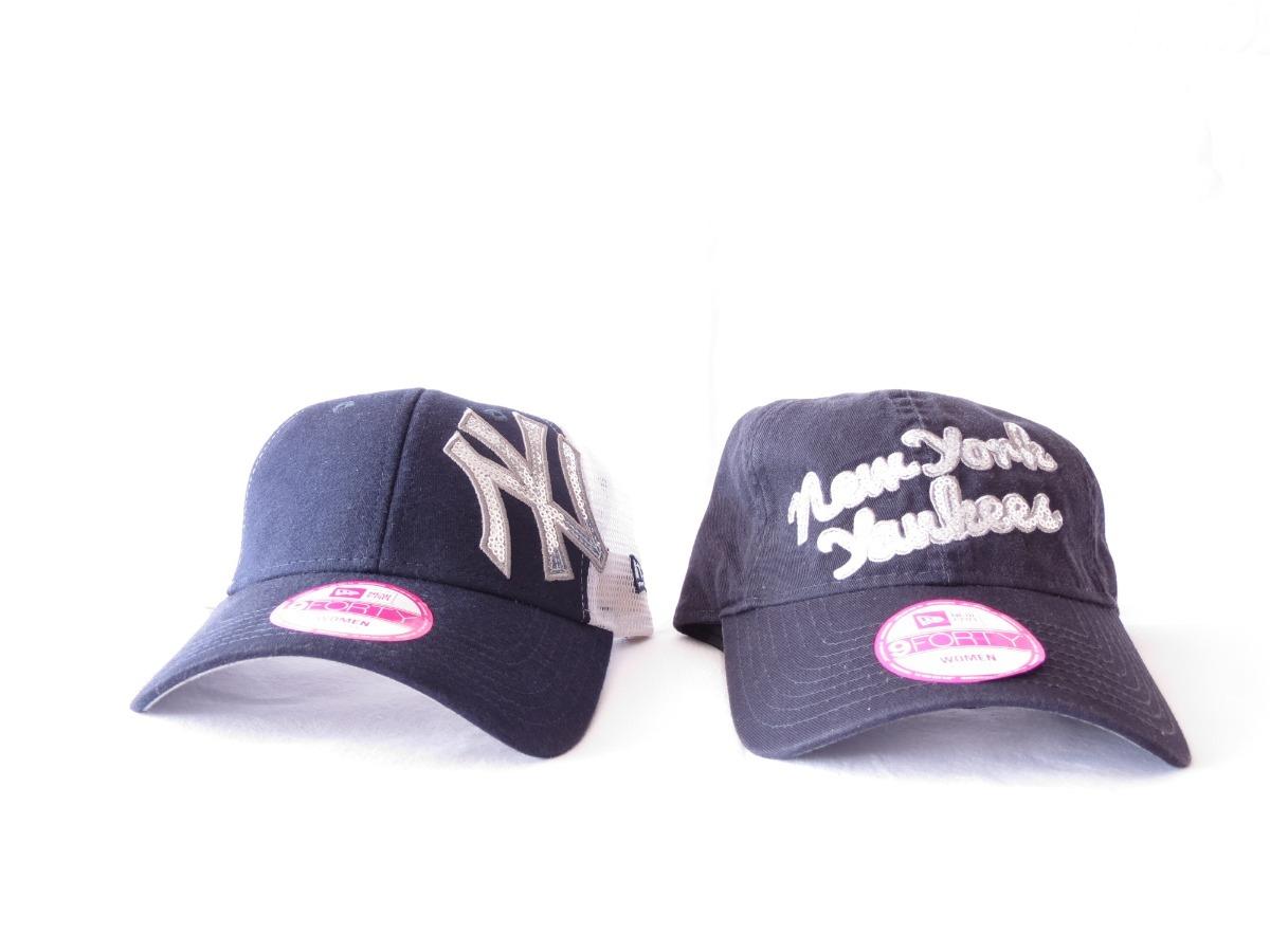 2 Bonés Preço De 1 - New Era New York Yakees Feminino - R  99 71fa587724f
