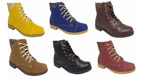 2 botas coturno feminina preço de fabrica