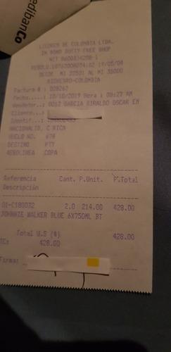 2 botellas de johnny walker etiqueta azul