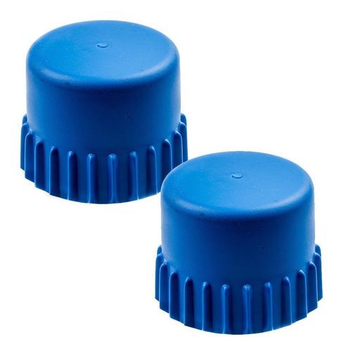 2 botão azul carretel nylon t35 original roçadeira husqvarna