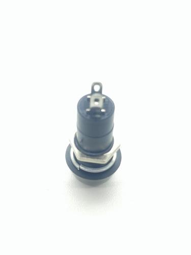 2 botão botoeira plastica on / off preto   liga e desliga . eletronica em geral
