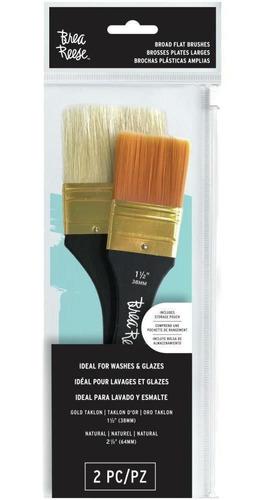 2 brochas planas profesionales acuarela pintar pintura arte