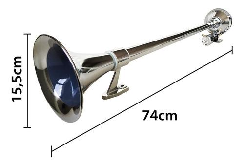 2 buzina marítima metal ar 74cm válvula de 1/2 - 12v 24v