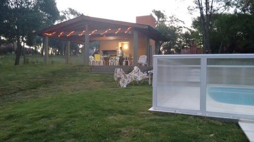 2 cabañas pileta,quincho, asador, horno- villa gral belgrano