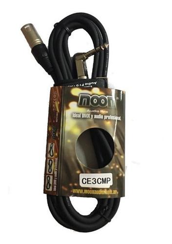 2 cable moon canon macho a plug trs  3 metros  esdj