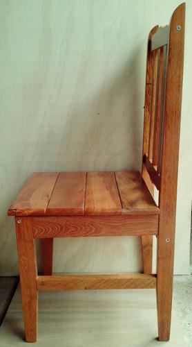 2 cadeiras  em madeira maciça angelim, verniz pu
