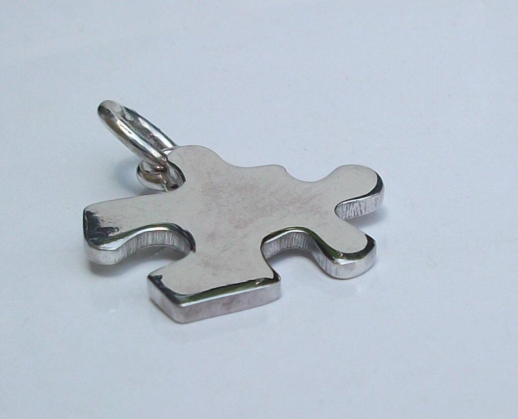 60b2c7acbc13 2 cadenas y dije rompecabezas personalizada plata auténtica. Cargando zoom.