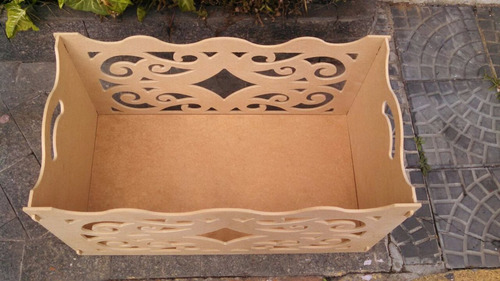 2 caixa presente arabesco desmontável mdf decoração nova