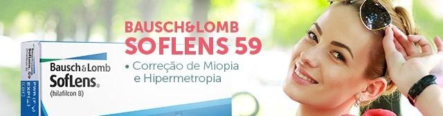 2 Caixas Lente De Contato Soflens 59 Incolor Com Grau Bausch - R ... 7d482b727c