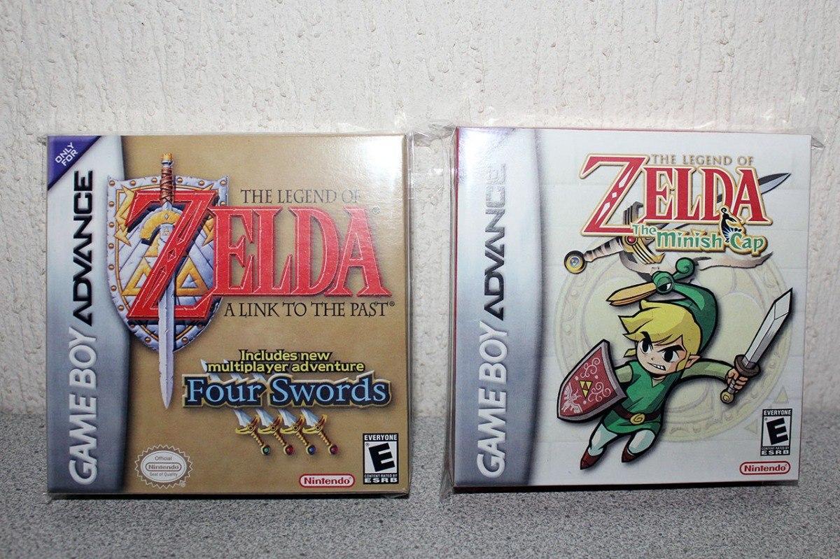 2 Cajas Customs Para Tus Juegos Zelda Gba Solo Cajas