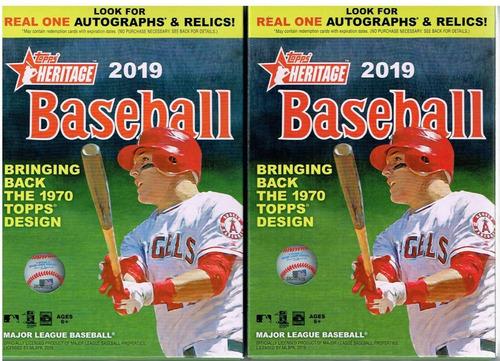 2 cajas de 2019 topps heritage beisbol 70 tarjetas
