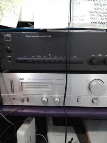 2 cajas de audio con amplificador jvc modelo a x1
