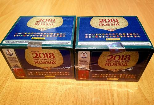2 cajas italianas panini mundial rusia 2018 álbum láminas