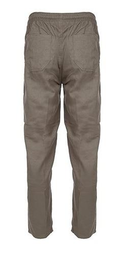 2 calça brim bege caqui uniforme profissional dgmaster