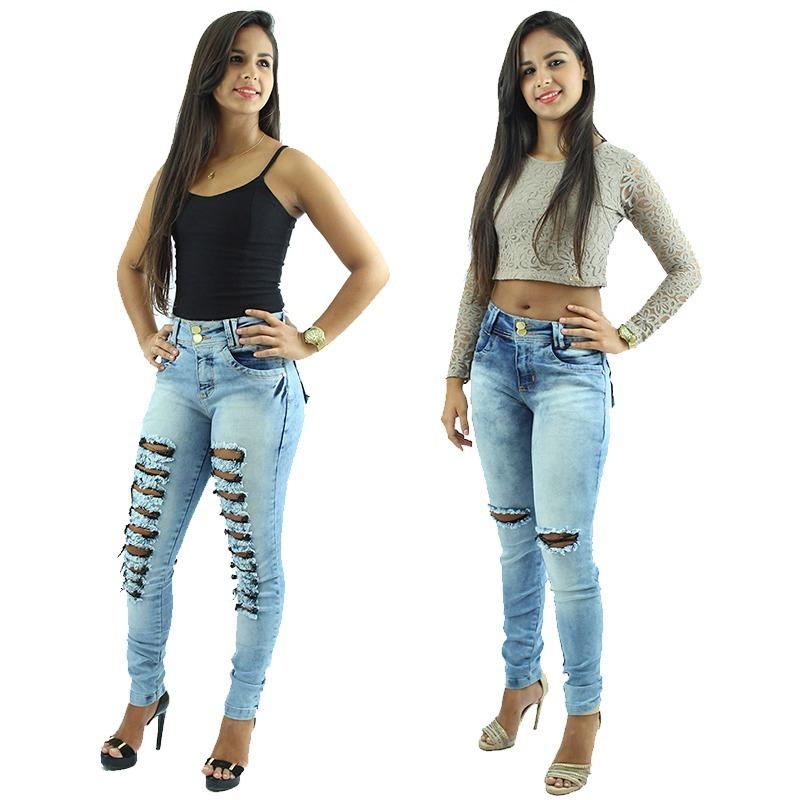612226da0 2 Calças Jeans Feminina Hot Pants Rasgada Frete Grátis!! - R  134