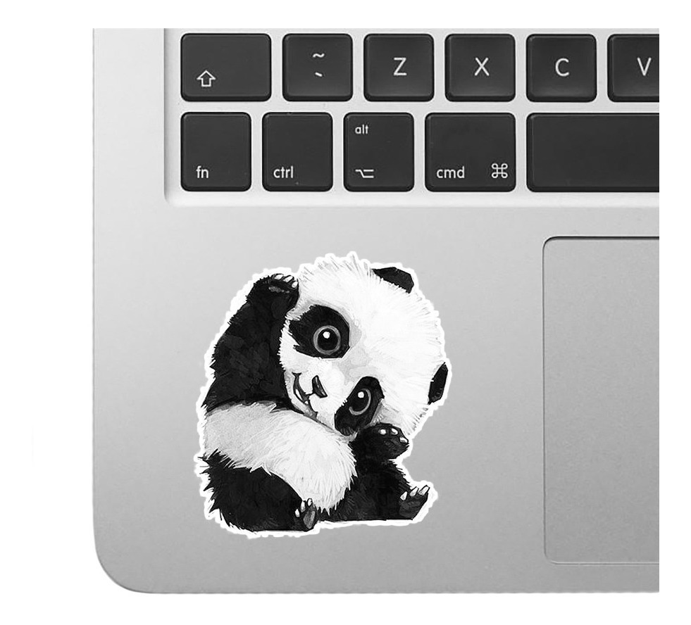 2 Calcomanias Sticker Laptop Tablet Mac Oso Panda 029