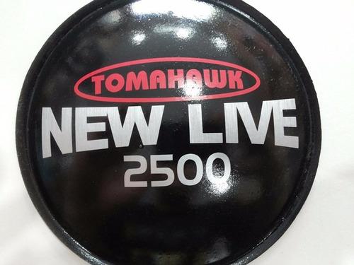 2 - calota protetor p/ alto falante tomahawk new live 160mm