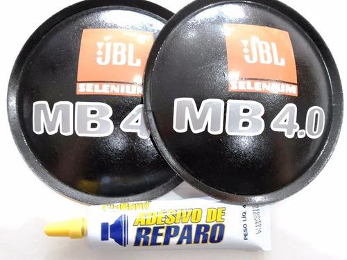 2- calota protetor p/ fal jbl selenium mb 4.0 135mm + cola