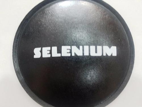 2 - calota protetor para alto falante selenium branco 120mm