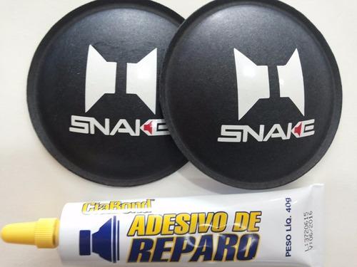 2 - calota protetor para alto falante snake 80mm + cola