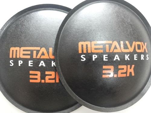 2- calota protetor para falante metalvox 3.2k 135mm + cola