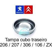 2 calota tampa cubo tambor roda traseira peugeot 106 206 207