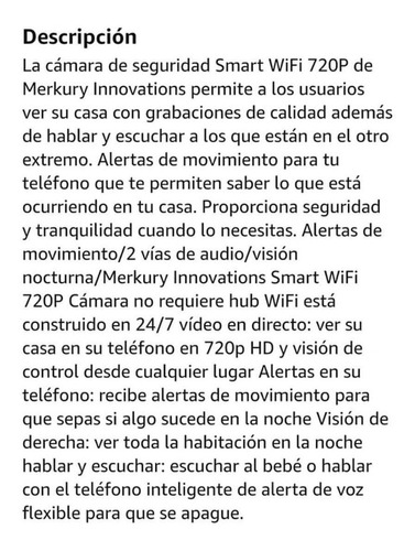 2 cámaras smart wi-fi con visión nocturna mercury inovations