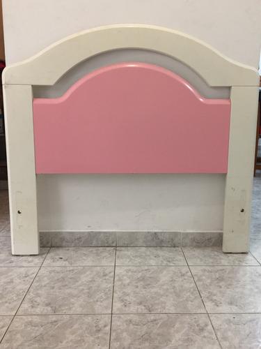 2 camas laqueadas de plaza y media (100cm) rosa y azul