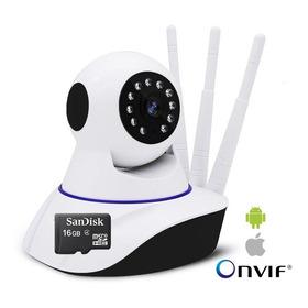 2 Camera Ip 2.0mp Wireless Wifi Audio Zoom Onvif P2p 16gb