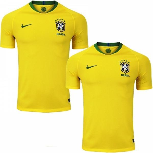 3ecc9ff727 2 Camisa Da Seleção Brasileira De Futebol 2018 Promoção 40% - R  120 ...