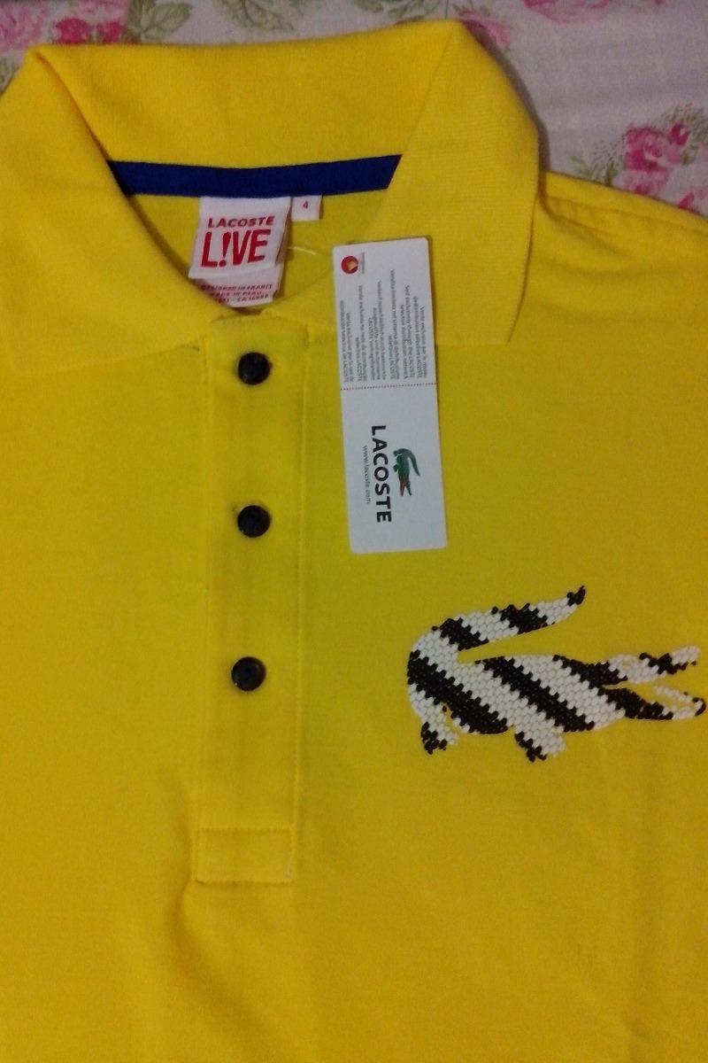 2 camisa polo lacoste live masculina 2015 (branca e amarela). Carregando  zoom. 5de553ee0b
