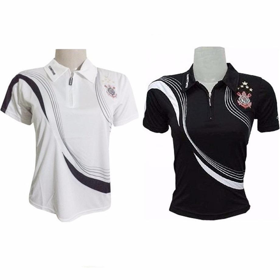8389d6aaa9 2 camisas do corinthians polo oficial feminina promoção 40 %. Carregando  zoom.
