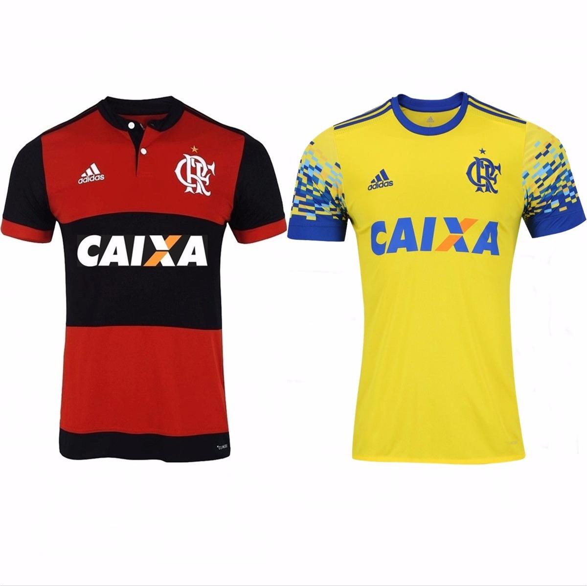c0ff14fe0899f 2 Camisas Do Flamengo 2017 Uniforme 1 E 2 Promoção F Gratis - R  274 ...