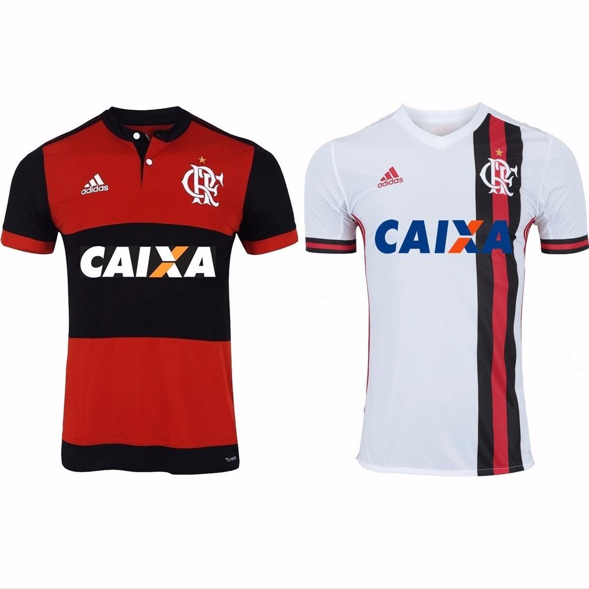 108fab1e54 2 Camisas Do Flamengo 2018 Uniforme 1 E 2 Promoção F Gratis - R$ 187 ...