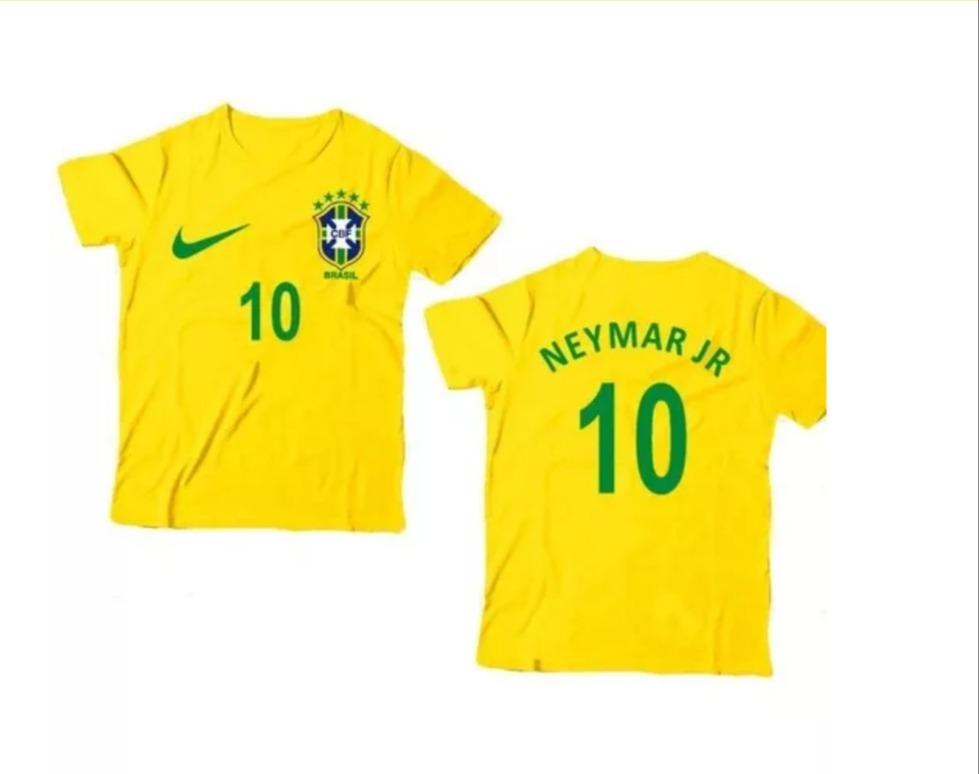 fb2ed24b4 2 camisas infantil do neymar -brasil 2 a 12 anos ! Carregando zoom.