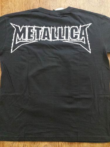 2 camisas metallica heavy thrash metal rock kill all ride